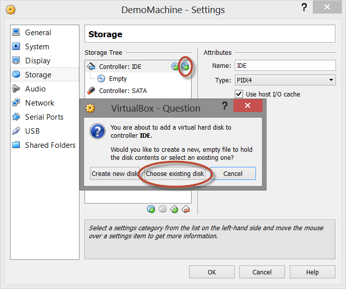 Open VMware (vhd) inside Virtual Box